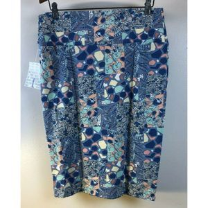 Cassie Large Skirt Floral Paisley Blue Pink White